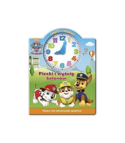 Pieski i wyścig balonów książka z zegarem psi patrol