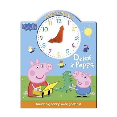 Dzień z peppą książka z zegarem świnka peppa