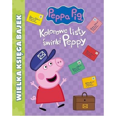 Kolorowe listy świnki peppy wielka księga bajek świnka peppa