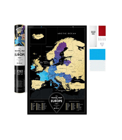 Mapa zdrapka travel map black europe