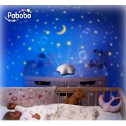 Muzyczna lampka nocna projektor Gwiazda beżowa