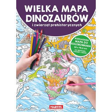 Wielka mapa dinozaurów i zwierząt prehistorycznych
