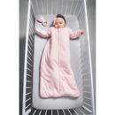 Jollein, Śpiworek całoroczny z odpinanymi rękawkami 70 cm Tiny waffle soft pink