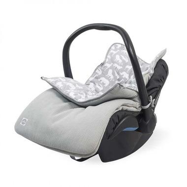 Jollein, Śpiworek do fotelika/gondoli Safari stone grey 0-10 miesięcy