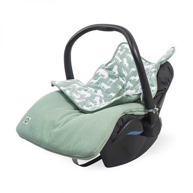 Jollein, Śpiworek do fotelika/gondoli Safari forest green 0-10 miesięcy