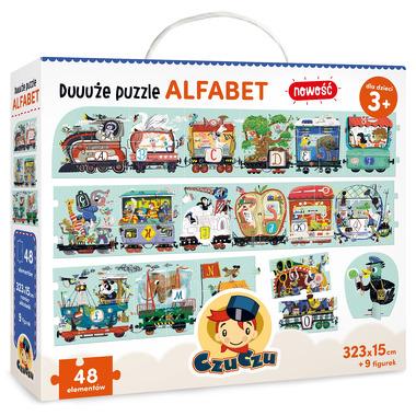 Duże puzzle alfabet Czuczu