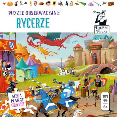 Puzzle obserwacyjne rycerze i plakat xxl Kapitan Nauka