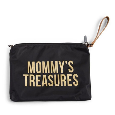 Childhome, Torebka Mommy's Treasures czarno-złota