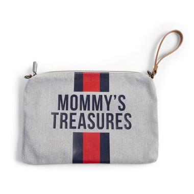 Childhome, Torebka Mommy's Treasures paski granatowo-czerwone