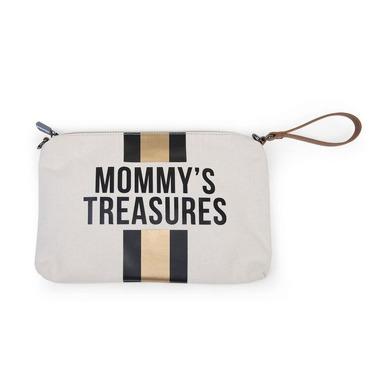 Childhome, Torebka Mommy's Treasures paski czarno-złote