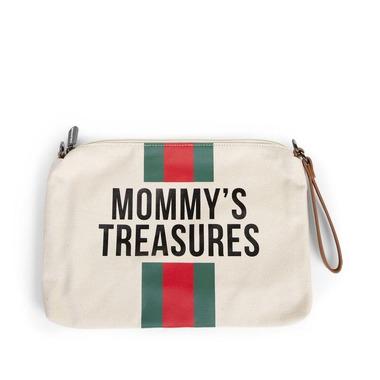 Childhome, Torebka Mommy's Treasures paski zielono-czerwone