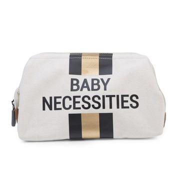Childhome, Kosmetyczka Baby Necessities paski czarno-złote