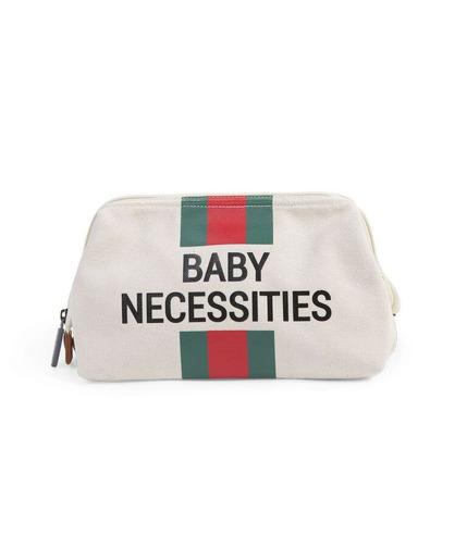 Childhome, Kosmetyczka Baby Necessities paski zielono-czerwone