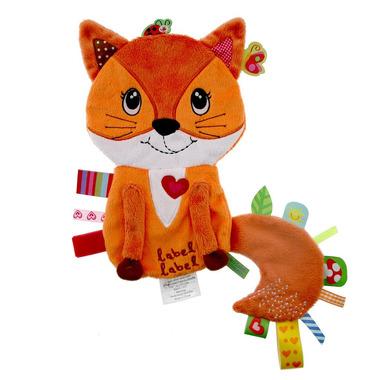 Przytulanka kocyk z metkami Label Label - Lisek