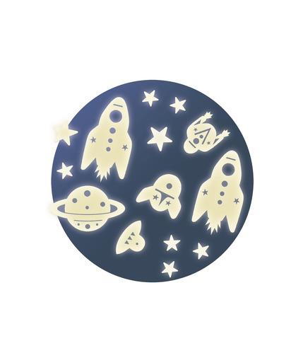 Djeco, Fluorescencyjne naklejki kosmos