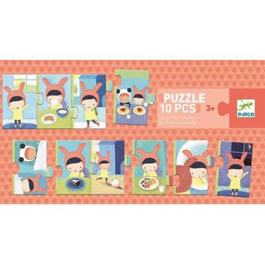 Djeco, Puzzle 10 elementowe Dzień