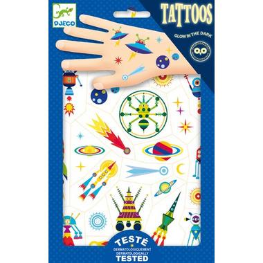 Djeco,  Tatuaże kosmos świecące w ciemności