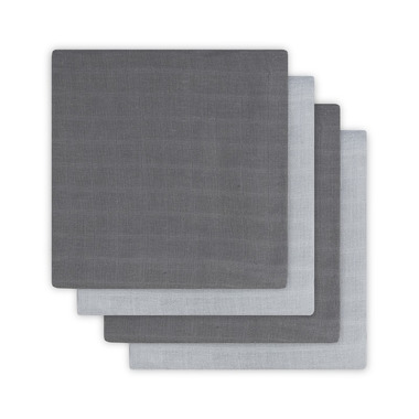 Jollein, Chusteczki bawełniane 31x31cm Duo grey (3 sztuki)