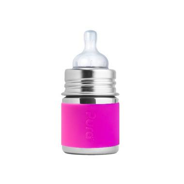 Pura, butelka Kiki ze smoczkiem różowa 150 ml