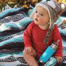 Pura, Butelka  Kiki ze smoczkiem niebieska swirl  325 ml