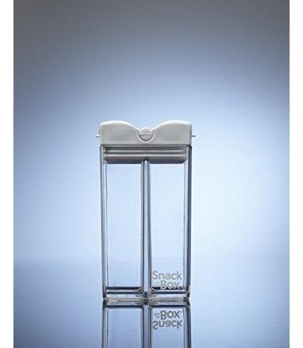 Drink In The Box, SNACK IN THE BOX Unique Pojemnik na przekąski white clear