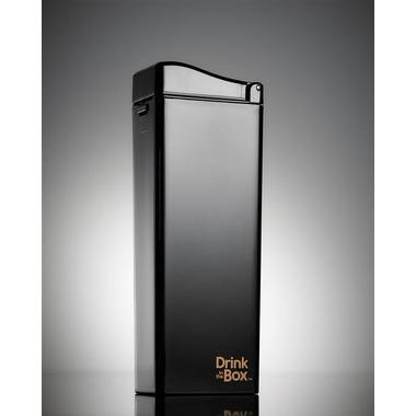 Drink In The Box, Unique Bidon ze słomką black 350ml