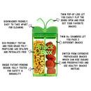 Drink In The Box, SNACK IN THE BOX Pojemnik na przekąski green