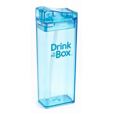 Drink In The Box, Bidon ze słomką blue 350ml