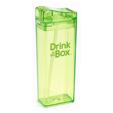 Drink In The Box, Bidon ze słomką green 350ml