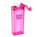 Drink In The Box, Bidon ze słomką pink 350ml