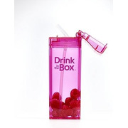 Drink In The Box, Bidon ze słomką pink 350ml