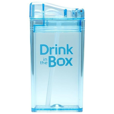 Drink In The Box, Bidon ze słomką blue 240ml