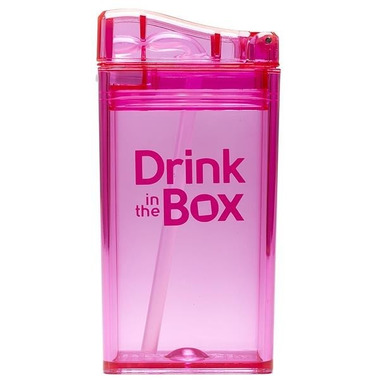 Drink In The Box, Bidon ze słomką pink 240ml