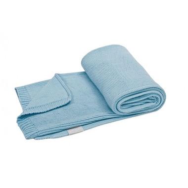 Poofi, tkany kocyk z bawełny organicznej 75x90cm - Miętowy