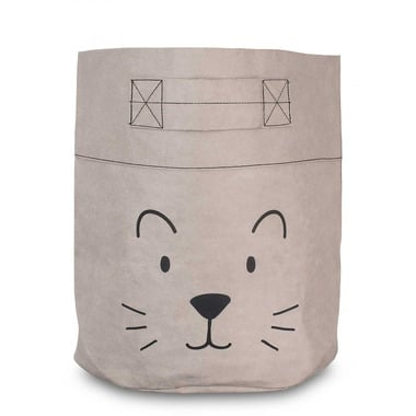 Jollein, Pojemnik papierowy XL na akcesoria mały lew szary