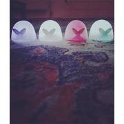 Flow, Lampka Nocna LED, Wieloryb Moby Mini, Różowy