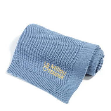 La Millou, Cotton Tender Blanket - Denim