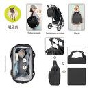 Lassig, Glam Label Plecak dla mam z akcesoriami Goldie Backpack Black