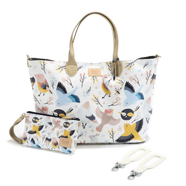 La Millou, By Katarzyna Zielińska La Millou Feeria - Torba Large Z Saszetką - Cute Birds - Premium