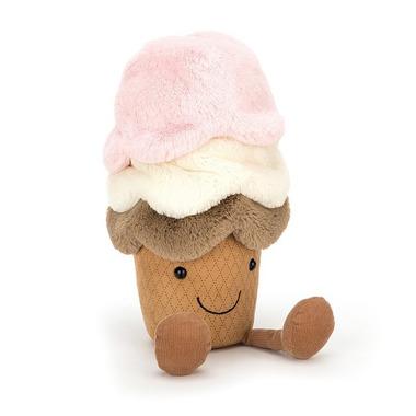 Jellycat, Amuse lody w wafelku maskotka 29cm