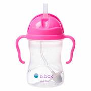 B.Box, Innowacyjny bidon ze słomką różowy granat