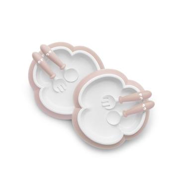 BABYBJORN, talerzyki ze sztućcami Powder Pink