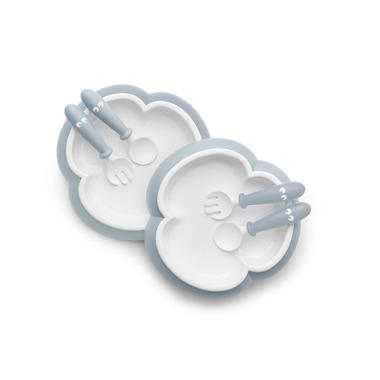 BABYBJORN, talerzyki ze sztućcami Powder Blue