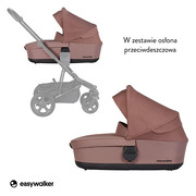 Easywalker, Harvey² Gondola do wózka Desert Pink (zawiera osłonkę przeciwdeszczową)