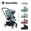 Easywalker, Charley Wózek głęboko-spacerowy Glacier Blue (zawiera stelaż i siedzisko z budką)