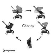 Easywalker, Charley Wózek głęboko-spacerowy Night Black (zawiera stelaż i siedzisko z budką)