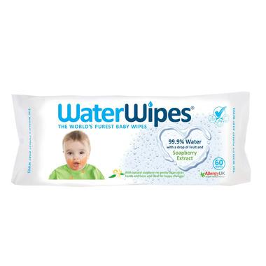 WaterWipes, Chusteczki nasączane czystą wodą, Soapberry (z dodatkiem wyciągu z orzechów mydlanych)