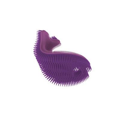 InnoBaby, Miękka silikonowa myjka-rybka do kąpieli, fioletowa