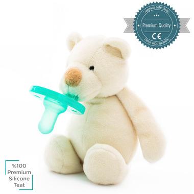 Minikoioi, Smoczek uspokajający z przytulanką White Bear