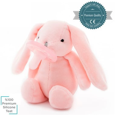Minikoioi, Smoczek uspokajający z przytulanką Pink Bunny